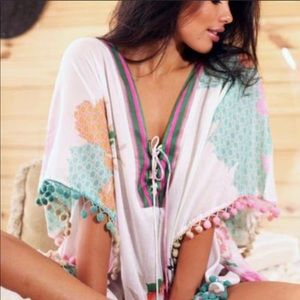 Other - Z&L caftan beach coverup dress floral NWT